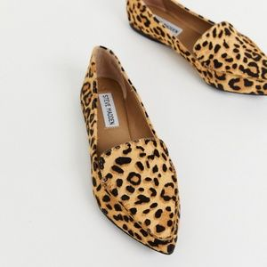 Steve Madden Cheetah Print Calf Hair Loafer Flats